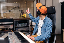 Recording In Professional Music Studio