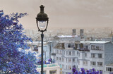 Fototapeta Paryż - Panorama Paryża z latarnią