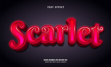 Scarlet Text Effect Design Vector Text Effect 100% Editable-eps Vector File, Words And Fonts Can Be Changed