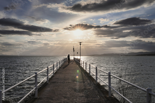 Fototapety, obrazy: Scenic View Of Sea Against Sky During Sunset
