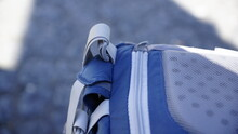 Close-up Of Blue Backpack