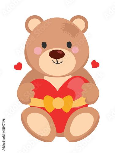 bear with a heart #412947496