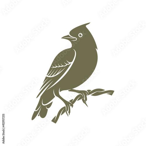 Obraz na plátně Lark bird logo design vector