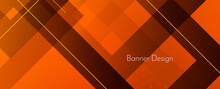 Modern Stylish Dark Abstract Geometric Elegant Banner Pattern Background