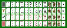 Playing Cards, Simplified Version. Poker Set With Isolated Cards. Poker Playing Cards, Full Deck.