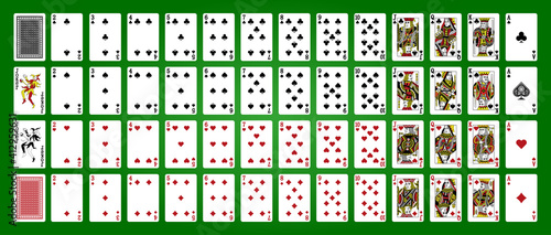 Canvas Playing cards, simplified version