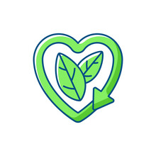 Please Recycle Sign RGB Color Icons Set. Modern Producing Body Care Products. Natural Cosmetics Production. Ecology Movement. Recycle Problems And Solutions.Isolated Vector Illustrations