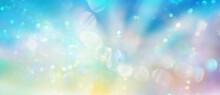 Banner Abstrakte Lichtspuren In Einem Feld Sanfter Pastelltöne