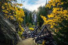 Fish Creek Falls, Steamboat Springs, Colorado In Autumn