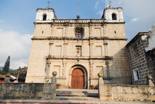 Old Stone Church In Colonial City - School Of Christ In Antigua Guatemala