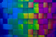 Abstract multi-colored background in the form of squares.