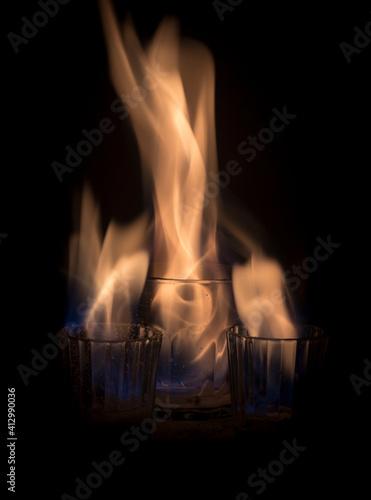 Photo fuego llamas
