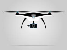 Black And White Drone Police