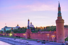 Moscow Kremlin In The Evening, Moscow, Russia