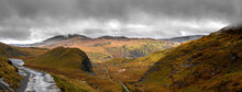 View Of The Miners Path Snowdon In The SNowdonia National Park Of Wales
