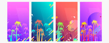 Abstract Set Summer Background Trend Color 2021 Pantone Universal Art Web Header Template. Collage Made With Scribbles Canyon Strokes