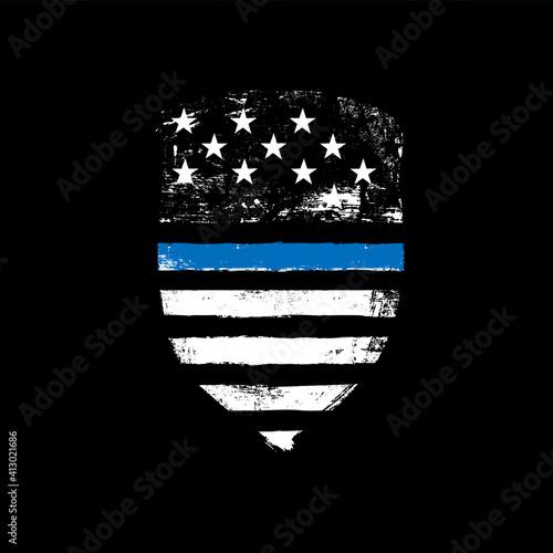 Slika na platnu Blue line symbol