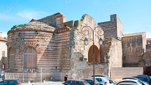 Fotografia The ruins of Thermae of Constantine, Arles, France