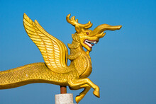 Dragon Statue In Golden Temple, The Largest Theravada Buddhist Temple In Bangladesh And Has The Country's Second Largest Buddha Statue, Bandarban, Chittagong Division, Bangladesh