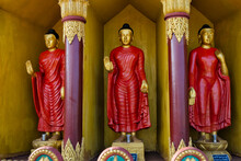 Buddhist Statues In Golden Temple, The Largest Theravada Buddhist Temple In Bangladesh And Has The Country's Second Largest Buddha Statue, Bandarban, Chittagong Division, Bangladesh