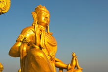 Buddhist Statue In Golden Temple, The Largest Theravada Buddhist Temple In Bangladesh And Has The Country's Second Largest Buddha Statue, Bandarban, Chittagong Division, Bangladesh