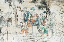 Mural Telling The Story Of Journey To The West, Xuanzang And His Followers, Dafo (Great Buddha) Temple, Zhangye, Gansu Province, China