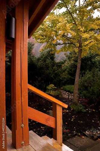 Fotografie, Obraz gazebo in the garden