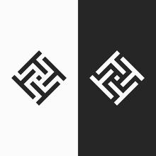 Letter T Ambigram Logo. Modern Logo.