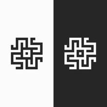 Letter S  Ambigram Logo. Modern Logo.