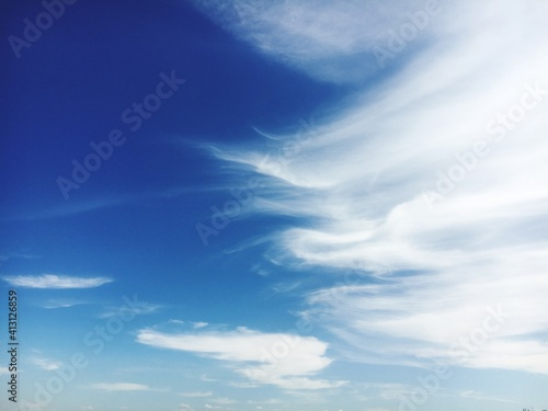Fototapeta Low Angle View Of Clouds In Blue Sky obraz