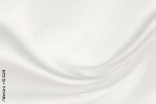 Obraz シルバーホワイトのサテン生地グラフィック背景 - fototapety do salonu