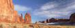 Leinwandbild Motiv Panoramic View Of Rock Formations Against Sky