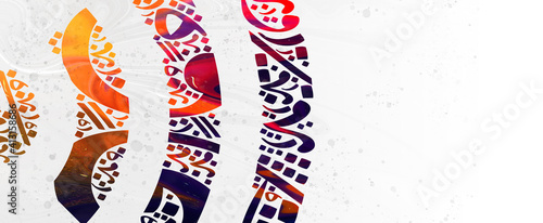 Slika na platnu Creative colorful background, Arabic Calligraphy Background Contain Random Arabic Letters Without specific meaning in English