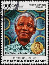 Nobel Prize Nelson Mandela On African Stamp