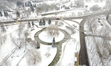 Top View Of The River Circle In Winter Park