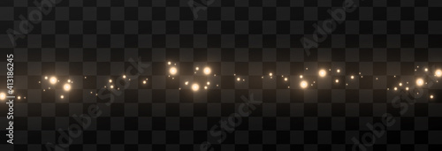 Fototapeta Light glowing effect star glow sparkles flash dust shining dots colour colourful sun sky white gold bright shine yellow explosion space energy garland backgrounds glare transparent luminous magic