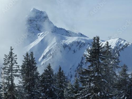 Fototapeta Scenic View Of Snow Covered Mountain Against Sky obraz