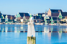 The Netherlands In Winter. Winter Dutch Village.