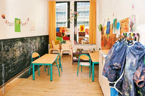 Foto Art classroom in kindergarten or primary school