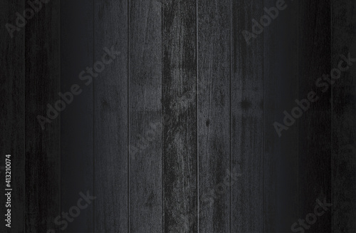 Fotografija Luxury black metal gradient background with distressed wooden parquet texture