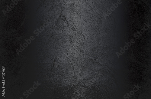 Obraz Luxury black metal gradient background with distressed cracked concrete texture. Vector illustration - fototapety do salonu