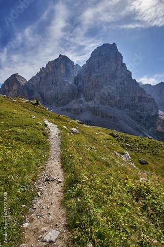Fototapeta Scenic View Of Landscape And Mountains Against Sky obraz