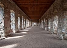 Remnants Of Interior Corridor Of The Ruined Castle Krzyztopor  In Ujazd, Poland, Built In 17th Century