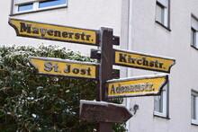 Straßenschild In Der Eifel