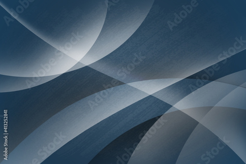 Fotografia, Obraz Modern blue degrade lines, glowing rays abstract background with copy space
