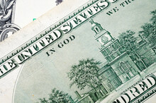 Paper Dollar Bills Detail Close-up. Business Finance Loans And Payments
