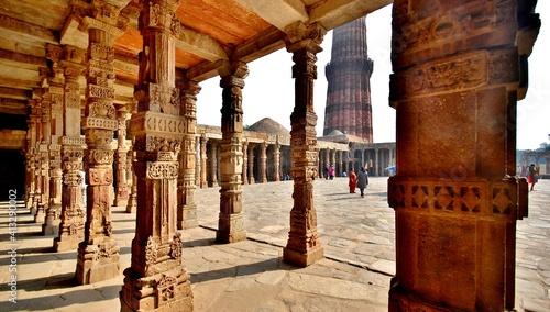Leinwand Poster İndia ,Agra city views,taj mahal ,lotus temple
