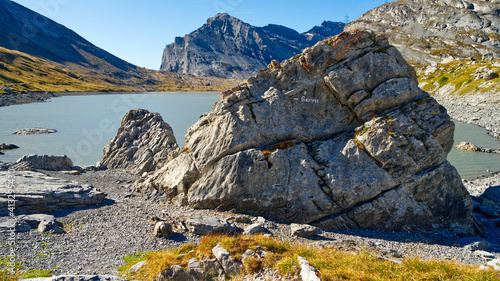 Fotografia Scenic View Of Rocks In Mountains Against Sky