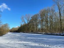 Frozen Canal In Sneek