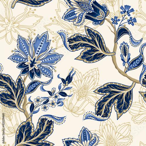 Tapety kolonialne  etniczny-wzor-z-indyjskim-ornamentem-wektor